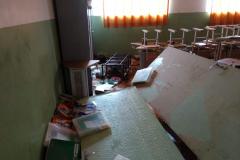 Escola Júlia Bottaro, de Miracatu, foi atingida com as enchentes em maio. O Grupo de Mobilização do PVE ajudou na limpeza da escola e arrecadação de mantimentos.
