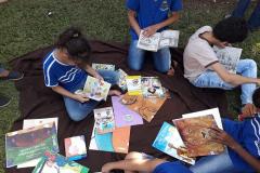 A Secretaria Municipal de Educação e o Grupo de Mobilização Social de Edealina, em Goiás, promoveram evento que incentiva a leitura nos alunos da rede pública.