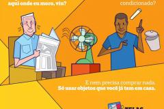 Sabia que dá pra transformar o seu ventilador num ar condicionado?